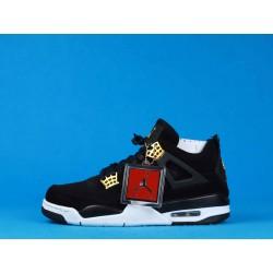 Air Jordan 4 Royalty 308497-032 Noir Or