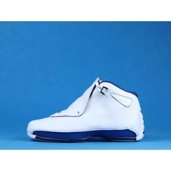 Air Jordan 18 White Sport Royal AA2494-106 Blanc Bleu